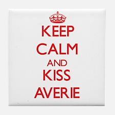 Keep Calm and Kiss Averie Tile Coaster