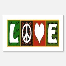 Cute Peace love quilt Decal