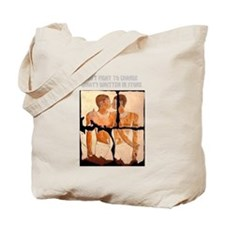 Homosexuality written in stone Tote Bag