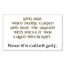 Golf Rectangle Decal