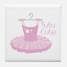 Tutu Cute Tile Coaster