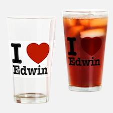 I love Edwin Drinking Glass