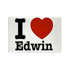I love Edwin Rectangle Magnet