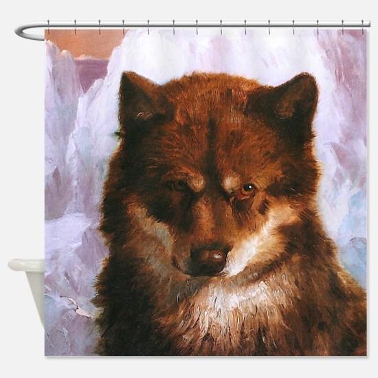 Oosisoak Artic Dog Shower Curtain