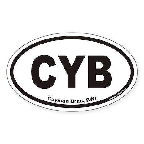 Cayman Brac CYB Euro Oval Sticker