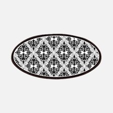 Black on White Damask 29a Patches