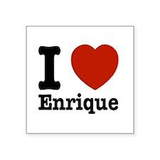 """I love Enrique Square Sticker 3"""" x 3"""""""