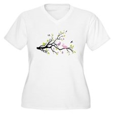 Happy Esater, spring tree with bunnies Plus Size T