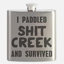 Shit Creek Survivor Flask