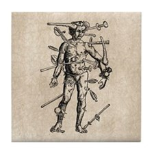 Wound Man Tile Coaster