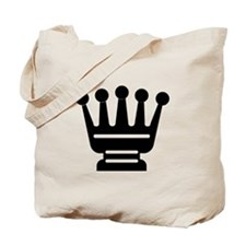 Queen Chess Piece Tote Bag