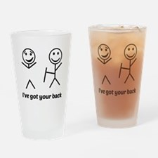 Ive got your back (for light items) Drinking Glass