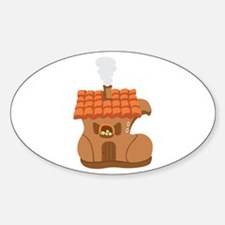 Old Woman Shoe House Decal