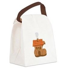 Old Woman Shoe House Canvas Lunch Bag