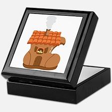 Old Woman Shoe House Keepsake Box