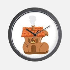Old Woman Shoe House Wall Clock