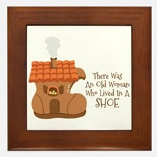 There Was An Old Woman Who Lived In A Shoe Framed