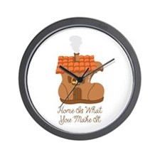 Home Is What You Make It Wall Clock