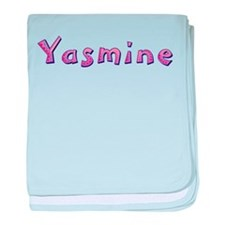 Yasmine Pink Giraffe baby blanket