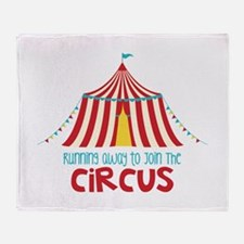 Running Away To Join The Circus Throw Blanket