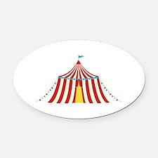 Circus Tent Oval Car Magnet