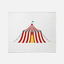 Circus Tent Throw Blanket