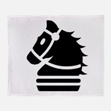 Knight Chess Piece Throw Blanket