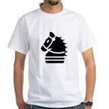 Chess knight Mens White T-shirts