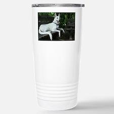 White Shepherd on a ben Travel Mug
