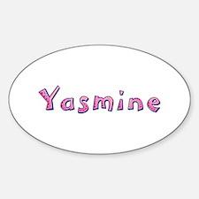 Yasmine Pink Giraffe Oval Decal