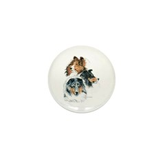 Sheltie Portraits Mini Button (10 pack)