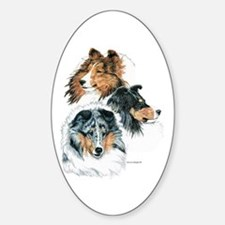 Sheltie Portraits Oval Decal