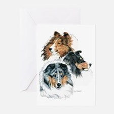Sheltie Portraits Greeting Cards (Pk of 10)