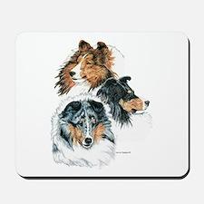 Sheltie Portraits Mousepad