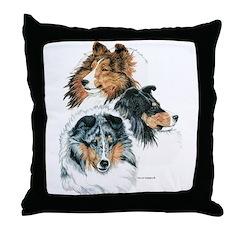Sheltie Portraits Throw Pillow
