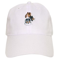 Sheltie Portraits Baseball Cap