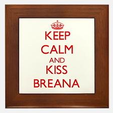Keep Calm and Kiss Breana Framed Tile
