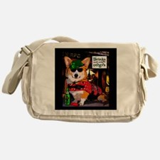 St Patricks Day Corgi Messenger Bag