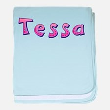 Tessa Pink Giraffe baby blanket