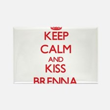 Keep Calm and Kiss Brenna Magnets