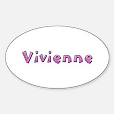Vivienne Pink Giraffe Oval Decal