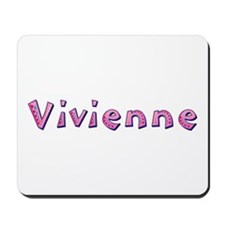 Vivienne Pink Giraffe Mousepad
