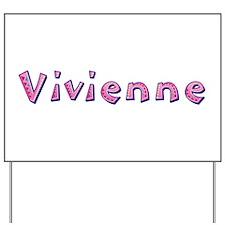 Vivienne Pink Giraffe Yard Sign