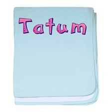 Tatum Pink Giraffe baby blanket