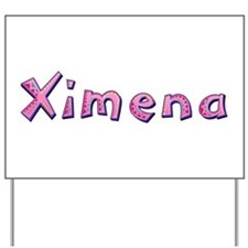 Ximena Pink Giraffe Yard Sign
