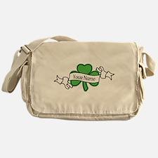 Shamrock CUSTOM TEXT Messenger Bag