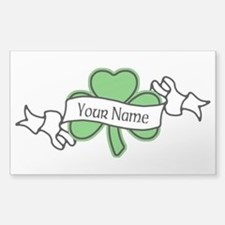 Shamrock CUSTOM TEXT Sticker (Rectangle)