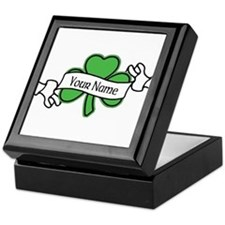 Shamrock CUSTOM TEXT Keepsake Box