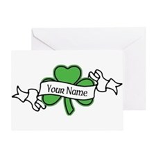 Shamrock CUSTOM TEXT Greeting Card