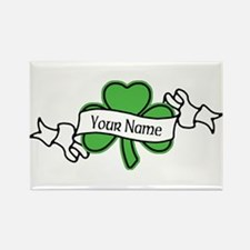Shamrock CUSTOM TEXT Rectangle Magnet